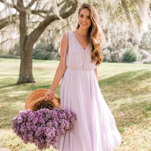 Gal Meets Glam Lavender Hillary Dress Size 2